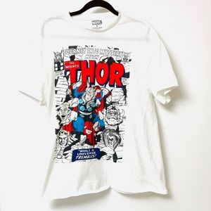 Marvel Thor white t-shirt size large